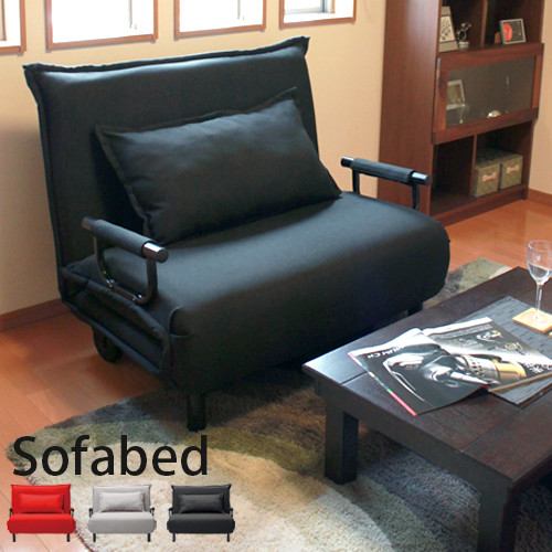 送料無料 キャスター付 リクライニング ソファベッド クッション付 ビータアクティブ シングル ソファベット 折りたたみ 簡易ベッド 1人暮らし ワンルーム 来客用 おしゃれ かわいい