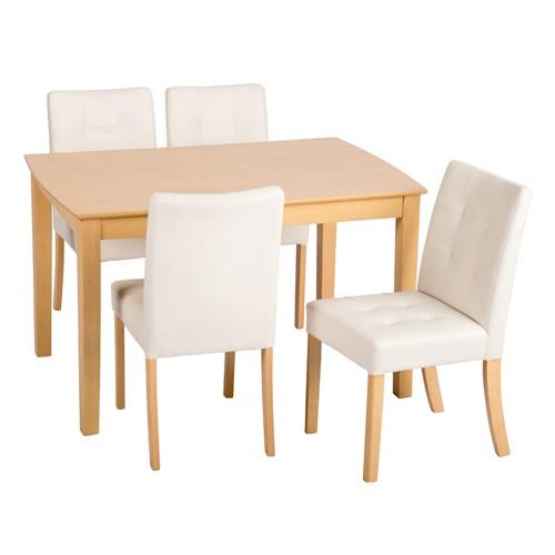 送料無料 ダイニング5点セット ダイニングテーブル 5点セット 115cm幅 4人用 4人 4人掛け デリカ 木目 木製 テーブル チェアー 4脚セット 机 作業台 椅子 食卓テーブル コンパクト 北欧 ナチュラル シンプル おしゃれ