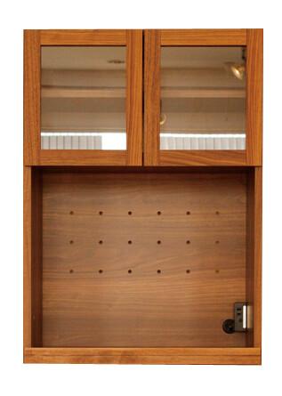 60ガラスオープン扉 レンジ台 炊飯器収納 キッチン収納 木製 食器棚 収納棚 北欧 おしゃれ モダン