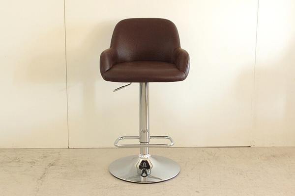 バーチェアー ブラウン 合成皮革 カウンターチェアー ハイチェアー 昇降 椅子 イス いす 食卓チェアー カフェ バー 北欧 西海岸 ミッドセンチュリー レトロ モダン おしゃれ