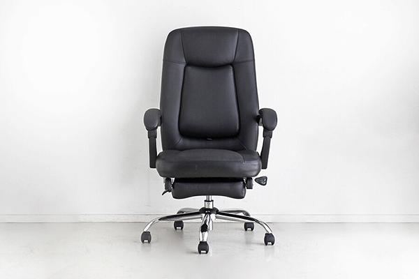 オフィスチェア ブラック オットマン 足置き付き フットレスト付き リクライニングチェアー ハイバック デスク用チェア いす 椅子 キャスター ワークチェアー パソコンチェア モダン ミッドセンチュリー レトロ 高級感