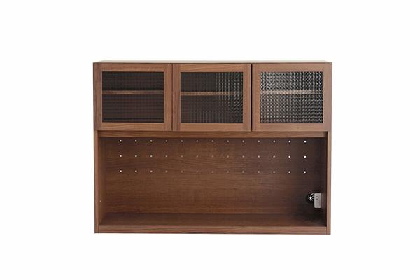 120オープンボード 上台 ウォールナットブラウン 日本製 レンジ台 炊飯器収納 キッチン収納 収納棚 食器棚 木製 北欧 おしゃれ モダン