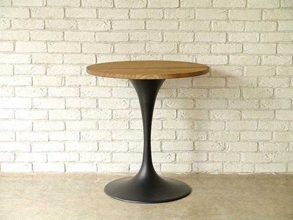 カフェテーブル ティーテーブル 高さ74cm 丸 円型 エルム 無垢材 テーブル ダイニングテーブル サイドテーブル 作業台 ソファーテーブル ベッドサイドテーブル 花台 飾り棚 北欧 モダン おしゃれ