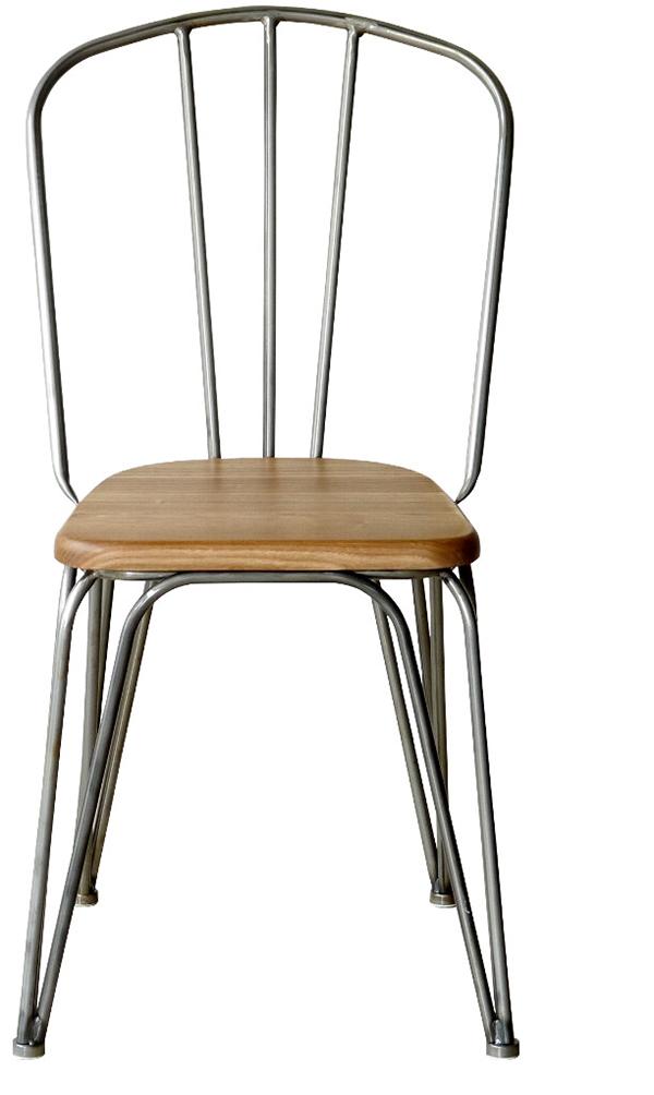 チェア 2脚セット エルム無垢材 スチール ダイニングチェアー おしゃれ 1人掛けチェア いす 椅子 食卓椅子 西海岸 ブルックリン インダストリアル 男前インテリア モダン 高級感