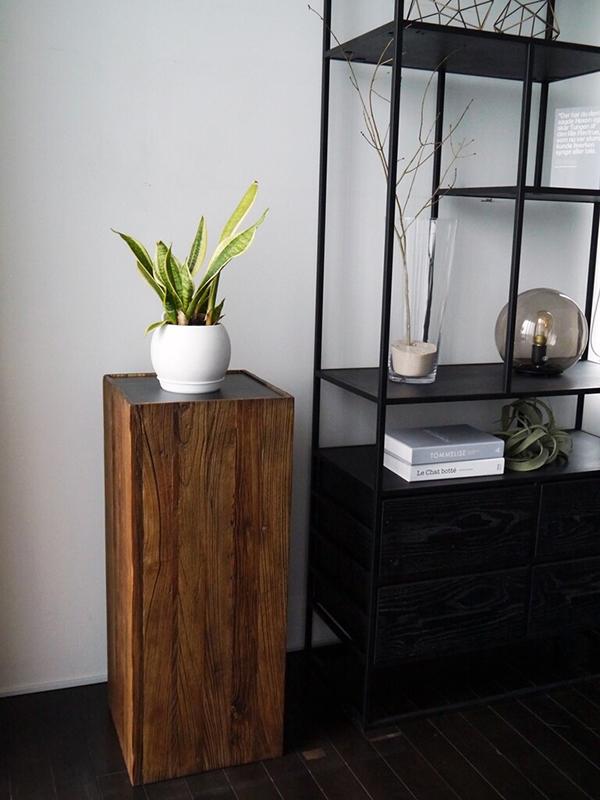 スタンド 木製 花台 飾り棚 プランター台 サイドテーブル 玄関 リビング 寝室 サージュ シンプル モダン 高級感 おしゃれ