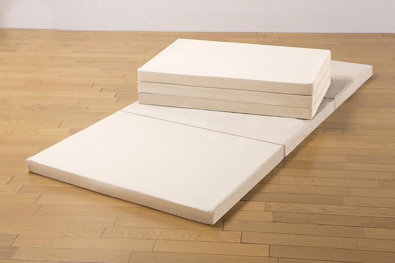 腰を支える3つ折れバランスマットレス2色組(シングル・ブラウン+ベージュ)