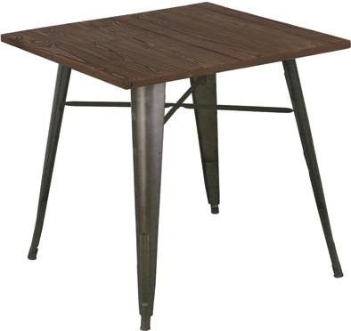 ダイニングテーブル 単品 メタルテーブル ガンメタル カフェ ダイニング テーブル 2人掛け テーブル 幅80cm ダイニング 机 作業台 2人 食卓テーブル アイアン インダストリアル ブルックリン 西海岸 男前インテリア アンティーク おしゃれ