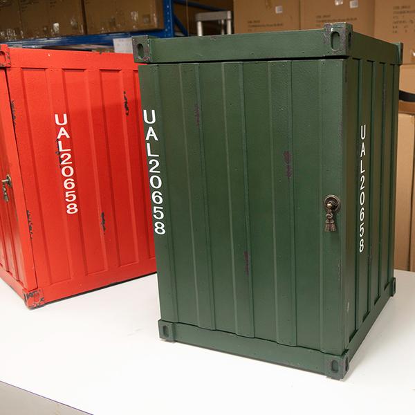 コンテナ型ボックス グリーン コンテナボックス 収納ボックス トランク収納 インダストリアル アンティーク調 収納家具 西海岸 ブルックリン 男前インテリア おしゃれ