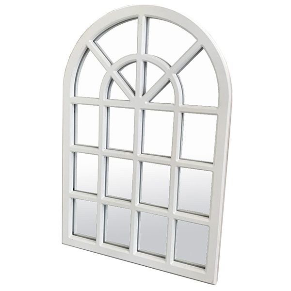 アーチミラー ホワイト 窓型 壁掛け ウォールアート ウォールデコ 壁面 飾り アンティーク クラシック 北欧 おしゃれ インテリア 西海岸