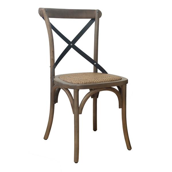 クロスバックチェア 2脚セット 籐 ラタン クロス/ブラック ウッド 木製 エイジング ダイニングチェアー 椅子 いす ダイニングチェア 食卓椅子 北欧 カフェ風 ミッドセンチュリー カントリー ナチュラル おしゃれ