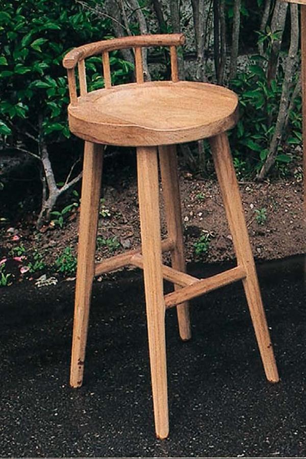 スタンドチェア ハイチェアー 木製 チーク ガーデンチェアー 1人掛け いす 椅子 ひとりがけ チェア テラス カフェ おしゃれ モダン レトロ 高級感