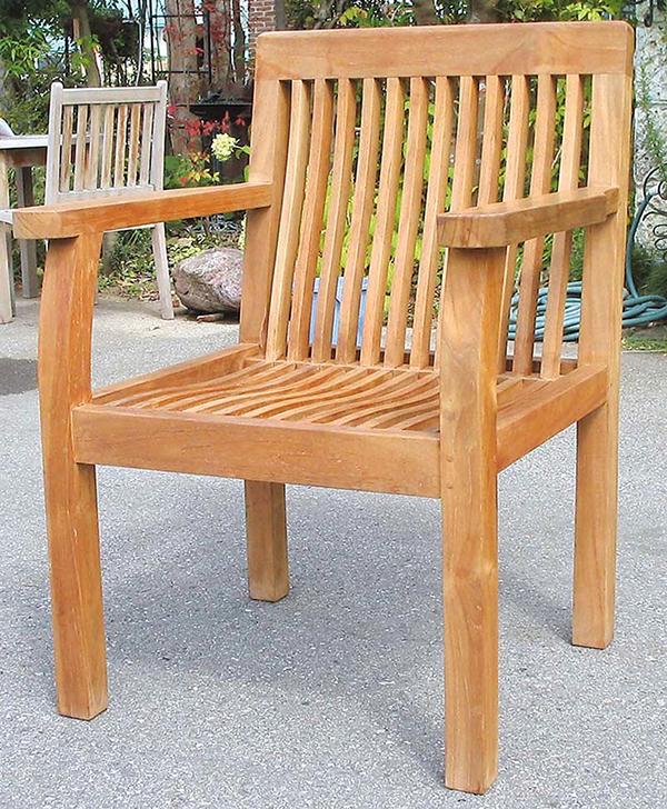 パブリックチェア 木製 チーク ガーデンチェアー 1人掛け いす 椅子 ひとりがけ チェア テラス カフェ おしゃれ モダン レトロ 高級感