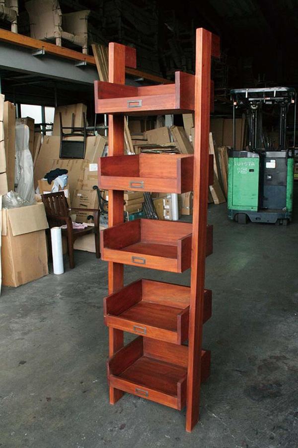 書類棚 木製 棚 ラック 収納棚 書類整理 オフィス収納 書類ラック ディスプレイラック おしゃれ モダン レトロ