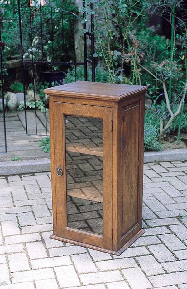 ガラス電話台 FAX台 木製 飾り棚 キャビネット リビングボード 花台 収納棚 おしゃれ レトロ モダン アンティーク