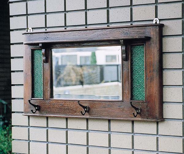 アンティーク化粧鏡 角型 壁掛け ミラー 壁掛ミラー ウォールミラー 木 チーク古材 レトロ モダン おしゃれ 高級感