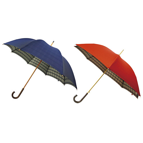 ノーブランド 甲州織 開店祝い K11206640 両面裏格子長傘2本セット 男女兼用