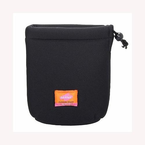 エツミ クッションレンズポーチ2.8WF 限定特価 E-5089 無料 ブラック