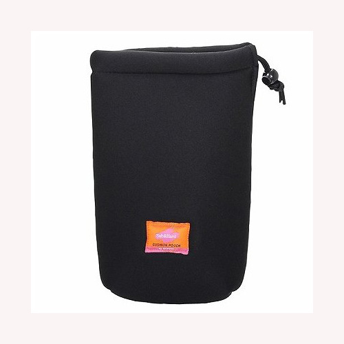 エツミ クッションレンズポーチ2.8M E-5090 休み ブラック 特別セール品