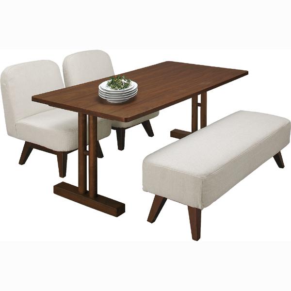 ダイニングテーブル 単品 ダイニング テーブル 天然木 木製 おしゃれ 机 つくえ 作業台 食卓テーブル 4人用 4人掛け テーブル 幅150cm モダン 北欧 西海岸 インテリア ウォルナット