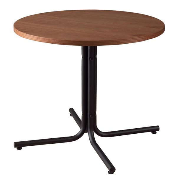 ラウンド カフェテーブル 幅80cm スチール脚 木製テーブル 円型 丸型 リビングテーブル コーヒーテーブル ダイニングテーブル ダイニング テーブル おしゃれ 北欧 モダン レトロ カフェ風 一人暮らし ブラウン