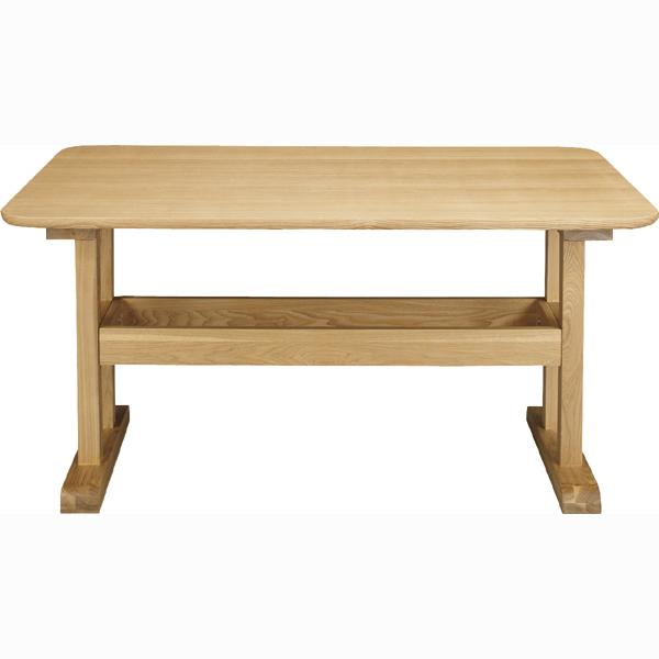 ダイニング テーブル 単品 ダイニングテーブル 棚付き 天然木 アッシュ 木製 おしゃれ 机 つくえ 食卓机 作業台 食卓テーブル リビングテーブル 4人用 4人掛け テーブル 幅130cm 西海岸 モダン 北欧 ナチュラル