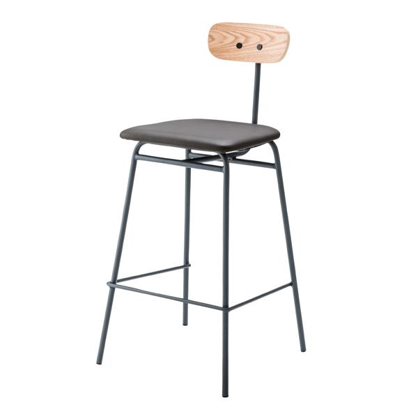 ハイチェア カウンターチェアー スチール パイプ レザー 大人 バーチェアー ハイチェアー チェアー 食卓チェアー 食卓椅子 いす イス 椅子 ダイニングチェアー レトロ モダン 北欧 ブルックリン 西海岸 男前 インテリア おしゃれ アンティーク グレー