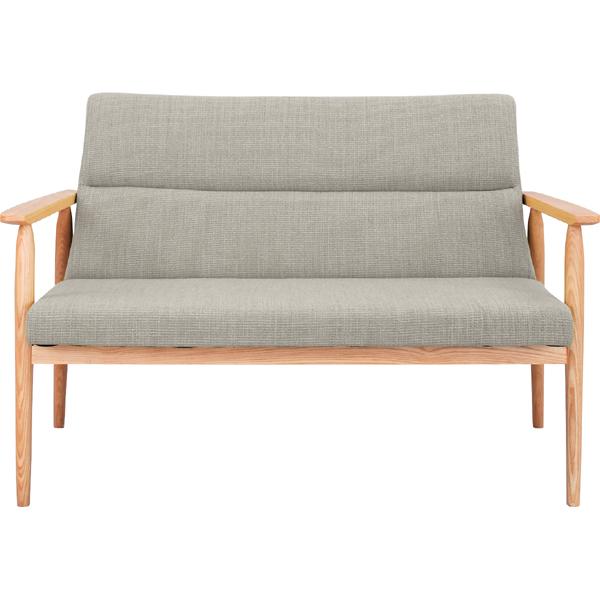 ソファー ソファ 2人掛け 二人掛け 2人用 イス 椅子 チェアー チェア 肘付き 木製 北欧 モダン レトロ カフェ風 西海岸 ブルックリン おしゃれ かわいい リビング 一人暮らし ベージュ
