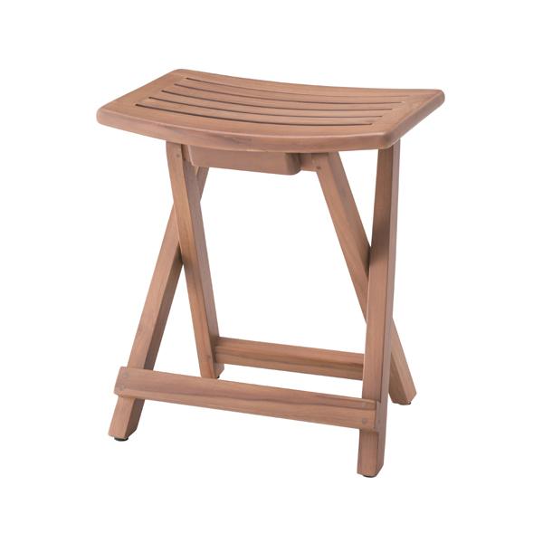 フォールディングスツール 腰掛け 木製 天然木 折り畳み 折りたたみ イス 椅子 チェアー オットマン 玄関 キッチン 台所 リビング コンパクト レトロ モダン 北欧 ブルックリン 西海岸 男前 インテリア おしゃれ シンプル 高級感 ブラウン