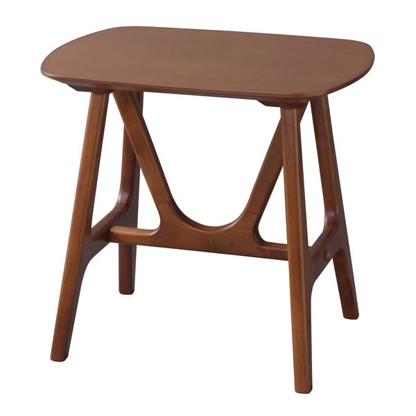 サイドテーブル 幅50cm 木製 スリム コンパクト ナイトテーブル ベッドサイドテーブル ソファーサイドテーブル レトロ モダン 北欧 ブルックリン 西海岸 男前 インテリア おしゃれ アンティーク