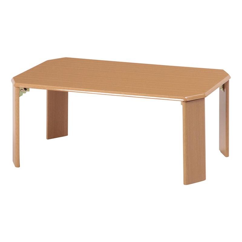 送料無料 ローテーブル 75×50cm センターテーブル 折りたたみ 折り畳み カフェテーブル リビングテーブル コンパクト 省スペース ウッディ ちゃぶ台 卓座 簡易 小さい ひとり暮らし 北欧 おしゃれ かわいい ライトブラウン