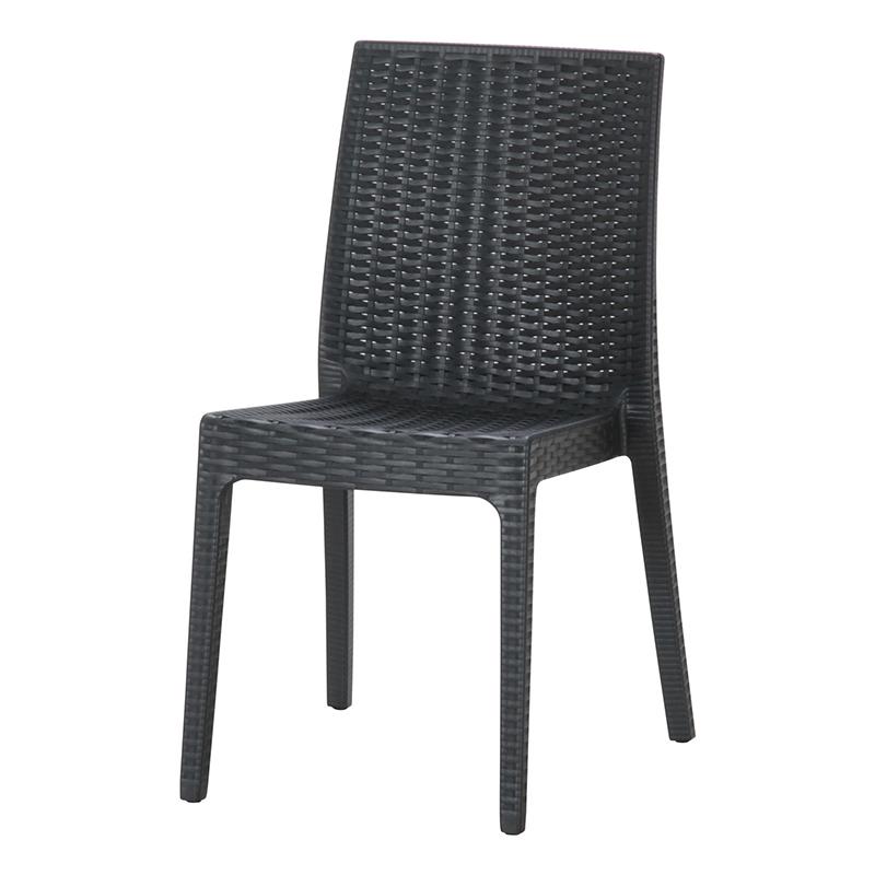 送料無料 2脚セット イタリア製 チェア ガーデンチェアー ステラ チェアー プールサイド いす 椅子 イス リゾート 庭 屋外 野外 アウトドア カフェ アジアン モダン シンプル ブラック おしゃれ かわいい