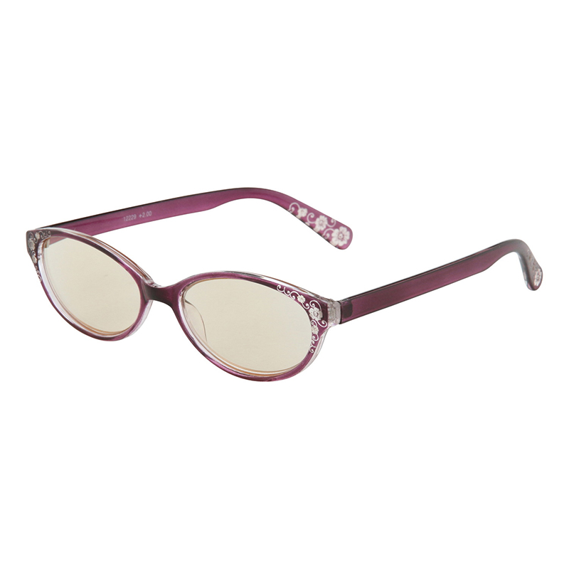 送料無料 10個入り PCリーディンググラス ファッション 2.0度 パープル PC眼鏡 スマホ老眼 パソコンメガネ 老眼鏡 シニアグラス おしゃれ かわいい