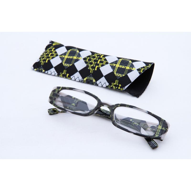 送料無料 12個入り リーディンググラス ブロックチェック イエロー 1.5度 老眼鏡 シニアグラス おしゃれ かわいい