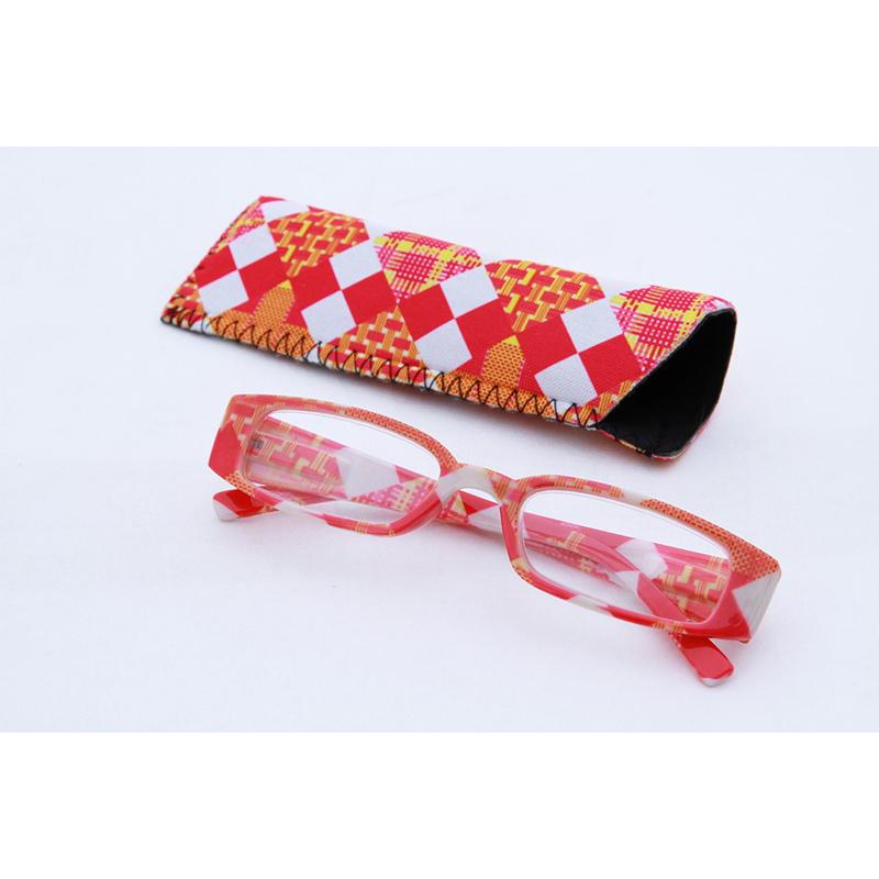送料無料 12個入り リーディンググラス ブロックチェック ピンク 1.5度 老眼鏡 シニアグラス おしゃれ かわいい