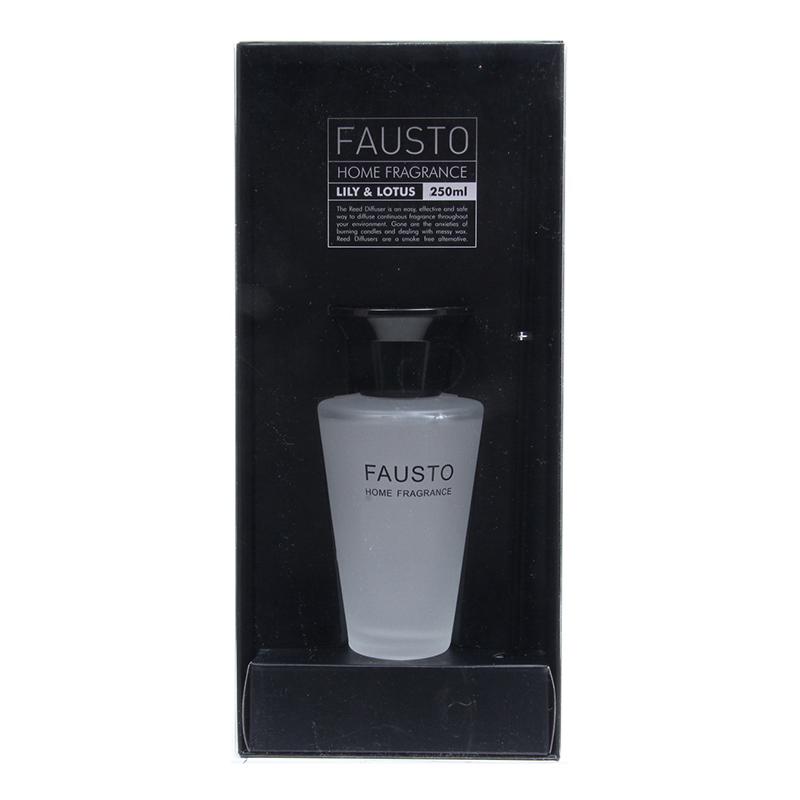 送料無料 4個入り ファウスト リードディフューザー 250ml リリー&ロータス スティック ガラスボトル 瓶 硝子瓶 アロマ おしゃれ かわいい ギフト プレゼント