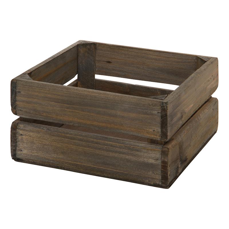 送料無料 6個セット 木製ボックス スクエア L ペン立て リモコンスタンド  スマホスタンド  小物入れ 収納ボックス デスク収納 机上 卓上 雑貨 リビング インテリア シンプル 西海岸 男前インテリア おしゃれ ブラウン:ナイススタイル