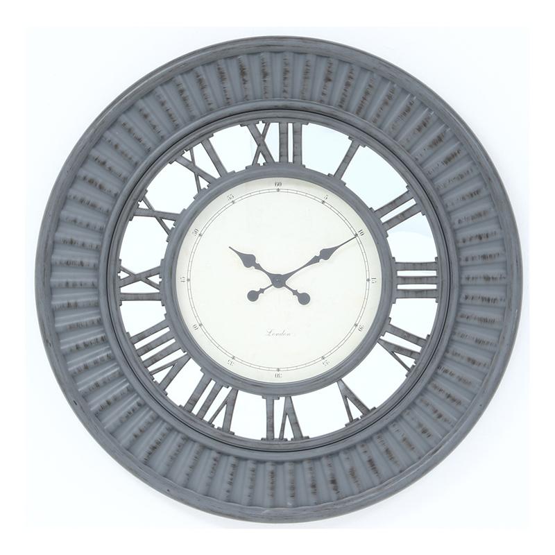 送料無料 掛時計 デネブ Φ75cm グレー 掛時計 掛け時計 壁掛け ウォールクロック 壁掛け時計 シンプル モダン おしゃれ