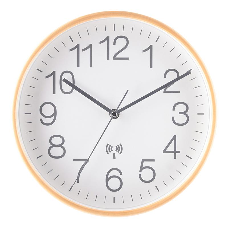 送料無料 3個セット 電波掛時計 プライウッド Φ28cm ホワイト 掛け時計 壁掛け ウォールクロック 壁掛け時計 シンプル モダン おしゃれ