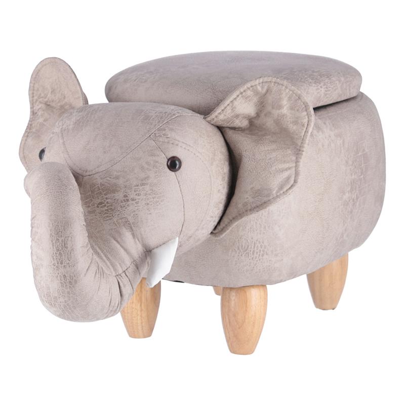 送料無料 スツール 収納付き ボックス オットマン 椅子 アニマルスツール収納付き ゾウ チェアー おもちゃ 収納ボックス 脚置き 玄関 リビング シンプル 西海岸 男前インテリア おしゃれ かわいい