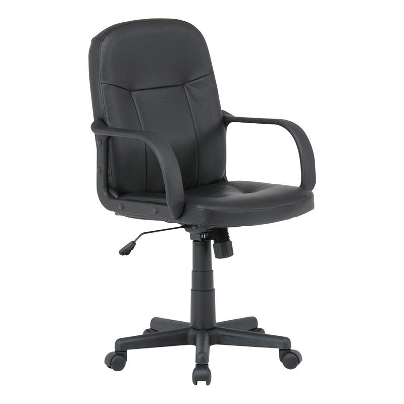 送料無料 レザーチェアー パソコンチェアー ロッキング機能 いす 椅子 オフィスチェアー ワークチェア 事務椅子 デスクチェア ワークチェア OAチェア シンプル モダン おしゃれ ブラック