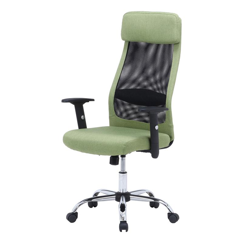 送料無料 ファブリッシュチェア パソコンチェアー ロッキング機能 アーム昇降機能 いす 椅子 オフィスチェアー ワークチェア 事務椅子 デスクチェア ワークチェア OAチェア シンプル モダン おしゃれ グリーン