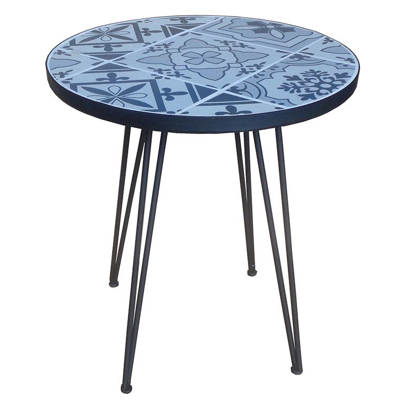 送料無料 ガーデン モザイク サイドテーブル ガーデンテーブル 花台 飾り棚 ベランダ テラス デッキ シンプル 北欧 おしゃれ かわいい 黒
