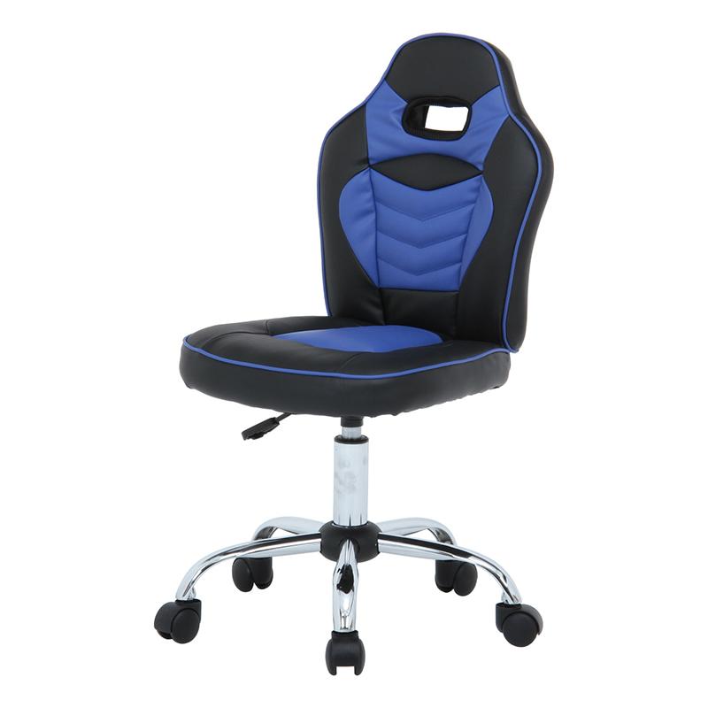 送料無料 レーシングチェア キッズ用 いす 椅子 デスクチェア 学習椅子 ワークチェア OAチェア シンプル モダン おしゃれ ブルー
