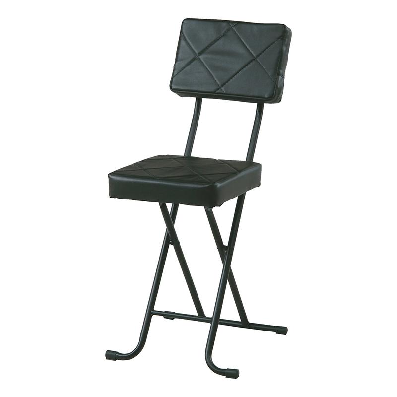 送料無料 4脚セット フォールディングチェアー スチール 折りたたみ チェアー いすイス 椅子 コンパクト リビング キッチン 会議室 シンプル モダン おしゃれ ブラック