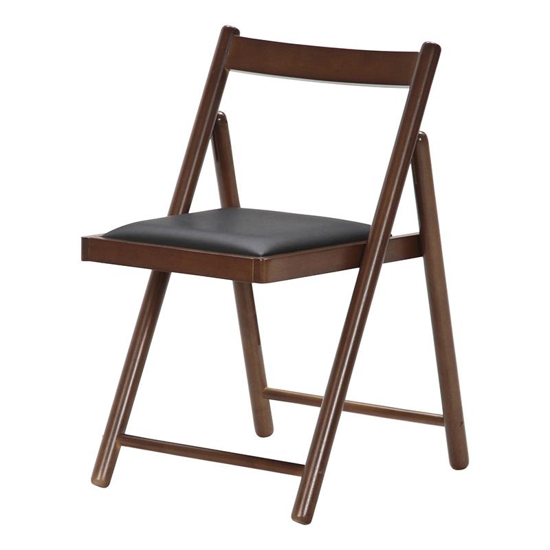 送料無料 フォールディングチェアー 木製 合皮 折りたたみ チェアー いす 椅子 イス オフィスチェアー ワークチェア 事務椅子 デスクチェア 折り畳み パイプチェア シンプル モダン おしゃれ