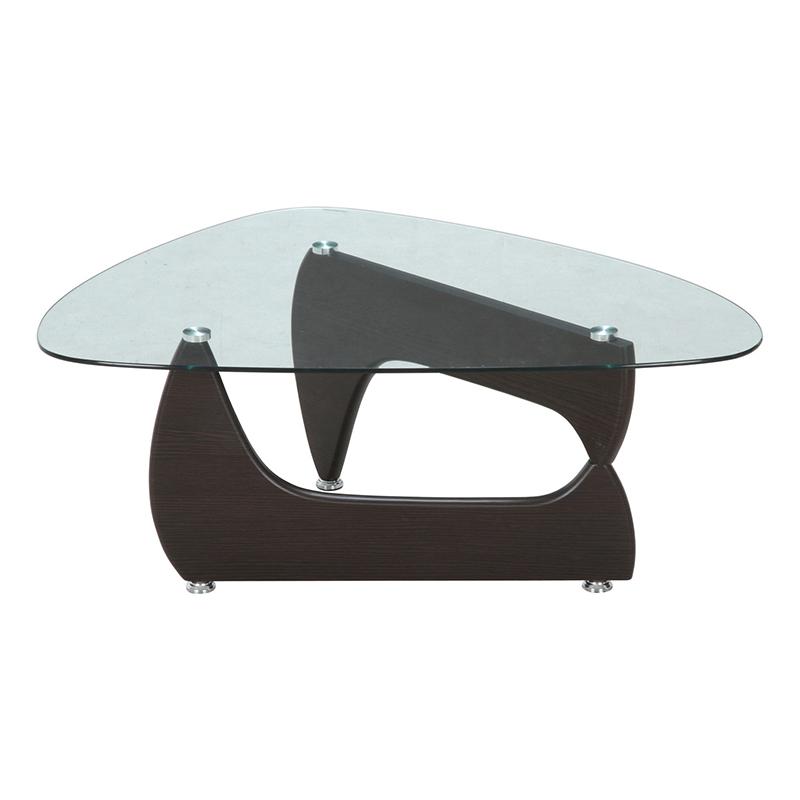 送料無料 硝子 ガラスセンターテーブル 幅100cm ローテーブル カフェテーブル リビングテーブル 机 作業台 おしゃれ かわいい 西海岸 男前インテリア 北欧 ひとり暮らし ウォルナット