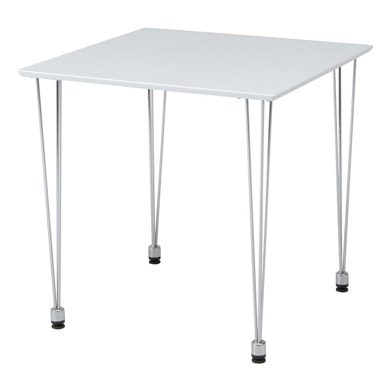 送料無料 ダイニングテーブル 単品 シンプル スチール脚 正方形 幅75cm ダイニング テーブル 食卓テーブル 2人掛け 2人用 木製 リビングテーブル 北欧 モダン レトロ 高級感 おしゃれ デザイン ホワイト