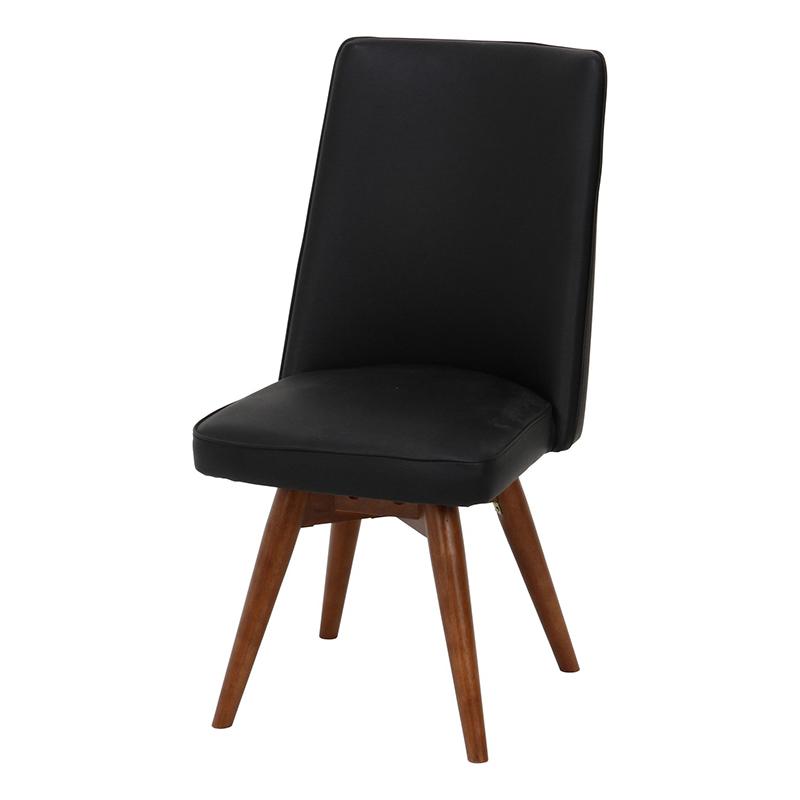 送料無料 ダイニングチェアー 単品 木製 1人掛け ダイニングチェア 回転チェア 回転式 イス 椅子 いす アポロ チェアー チェア 食卓椅子 1人がけ インテリア 北欧 シンプル モダン 高級感 おしゃれ デザイン ブラック
