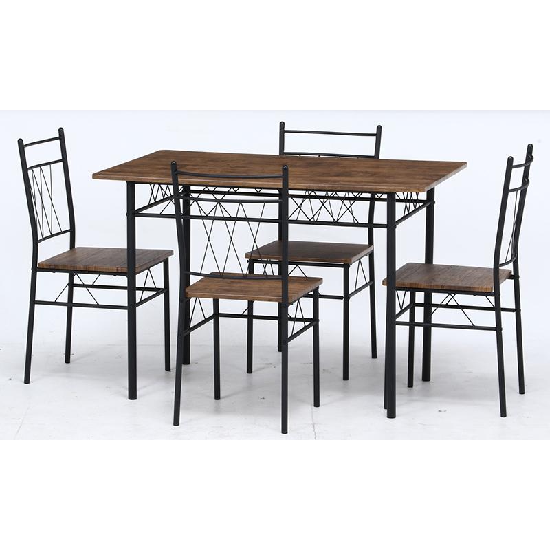 送料無料 ダイニングテーブル セット ダイニング5点セット リビング テーブル 椅子 いす 4人がけ 4人用 4人掛け フルーレ ブラウン 西海岸 ブルックリン 男前インテリア おしゃれ