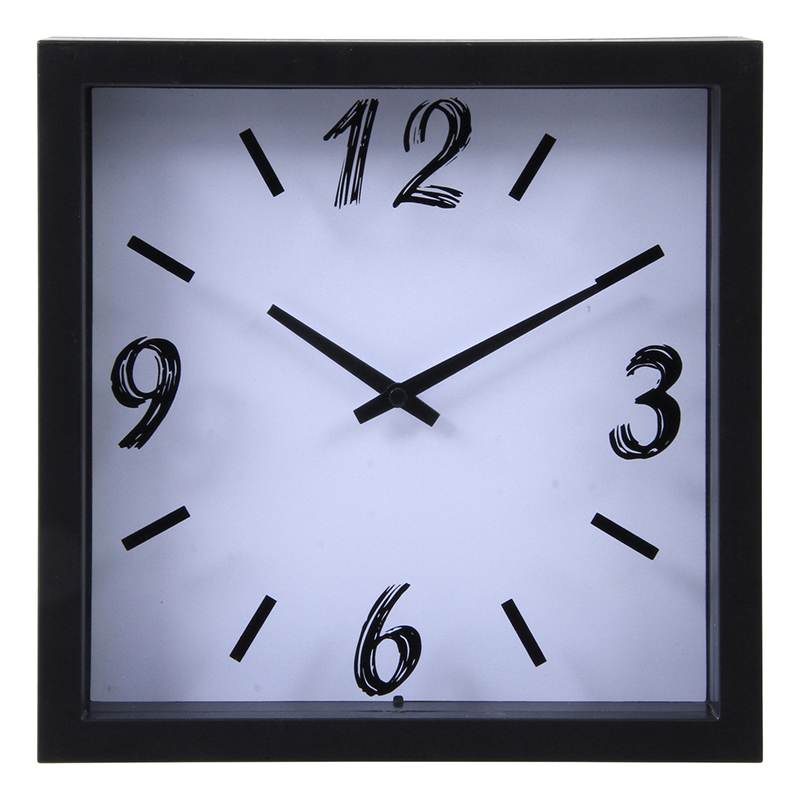 送料無料 6個セット 掛時計 ペイント □23cm ホワイト 掛け時計 ウォールクロック かけ時計 壁掛け時計 壁掛け シンプル 北欧 モダン かわいい おしゃれ